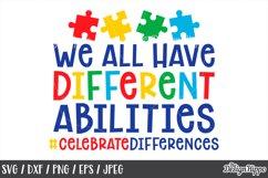Autism Teacher, SVG Bundle of 10 Designs, DXF PNG Cut Files Product Image 6
