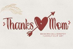 Thanks Mom - Modern Calligraphy Product Image 1