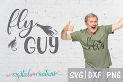 Fly Guy SVG, DXF, PNG, Fishing Product Image 1