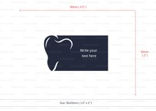Dentist business card template cutting file Product Image 4