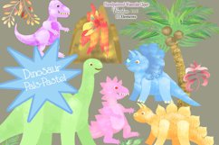 Watercolor Dinosaur Clipart, Sublimation PNG, Transparent Product Image 2