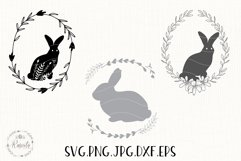 Easter Bunny Bundle Line and Silhouette/ 6 Product Image 1