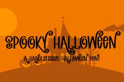 Spooky Halloween - A Hand-Lettered Halloween Font Product Image 1