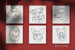 16 Dogs line drawings. Dog breeds Product Image 1