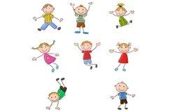 Set of Twenty-six Cartoon Little Kids Character Product Image 3