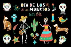 Day of the Dead clipart - Mexican Holiday Dia de los Muertos Product Image 1