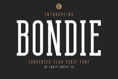 Bondie - Condensed Slab Serif Font Product Image 1