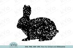 Distressed Easter Bunny Svg, Printable Easter Shirt Design Product Image 1
