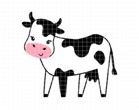 Funny cows clip art Product Image 4