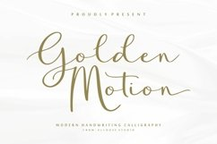 Web Font - Golden Motion Product Image 1