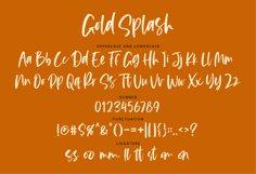 Gold Splash - Handwritten Script Product Image 3