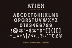 Atjeh - A Traditional Vintage Font | 4 Font Files Product Image 5