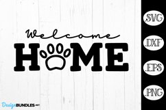 Welcome Home Pet Paw Print SVG Product Image 1