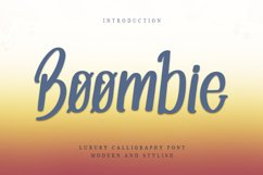 Boombie - Elegant Challigraphy Font Product Image 1