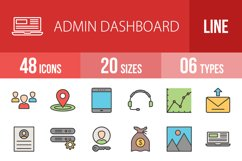 48 Admin Dashboard Filled Line Icons Season II Product Image 1