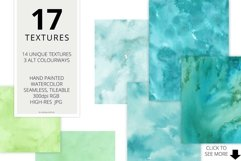 17 Huge Seamless Green Watercolor Textures Product Image 2