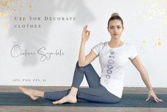 Chakra sybmols. Mandala set, Yoga, boho style.2 variatio Product Image 4