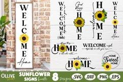 Sunflower Porch Sign SVG Bundle, Sunflower Home Sign SVG Product Image 1