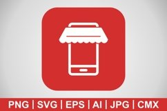 Vector Online Shopping Icon Product Image 1