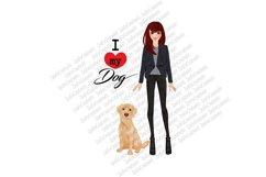 I love my dog PNG JPG PDF Clip art clipart wall art illustration pet Labrador retriever mug design dog design pet design pet fashion girl Product Image 2