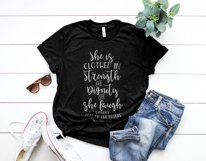 she is clothed in strength and dignity and laughs without fear of the future Printable Product Image 2