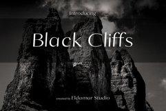Black Cliffs Font Product Image 1