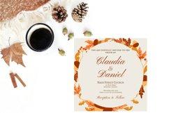 Autumn Wreath Wedding Invitation Product Image 4