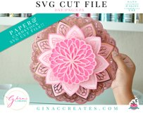 3D Layered LOVE, HOPE, FAITH Mandala SVG Cut File Product Image 2