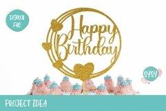 Cake Topper Bundle SVG | Happy Birthday SVG Bundle Product Image 4