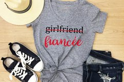 Girlfriend to Fiancee and Fiancee to Bride SVG, DXF, PNG Product Image 3