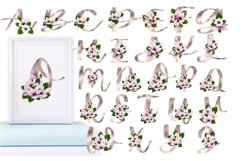 Gold magnolia alphabet and numbers Product Image 3