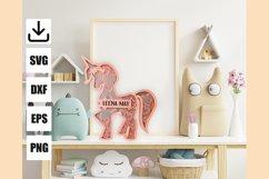 Layered unicorn custom and monogram unicorn, easy to cut Product Image 3