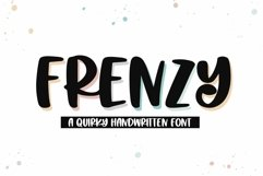 Web Font Frenzy - A Quirky Handwritten Font Product Image 1