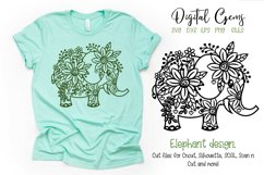 Elephant paper cut design SVG / DXF / EPS / PNG files Product Image 1