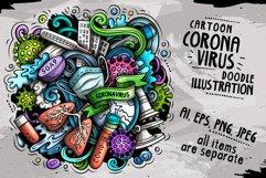 Cartoon vector doodles Coronavirus illustration Product Image 1