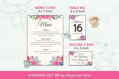 Wedding Invitation Set #8 Watercolor Floral Flower Style Product Image 6