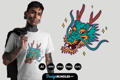 Dragon Face Illustrations for T-Shirt Design Product Image 1