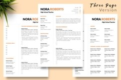 Teacher Resume CV Template for Word & Pages Nora Roberts Product Image 4