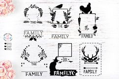 Family Name Frames Cut Files and Sublimation Bundle Product Image 2