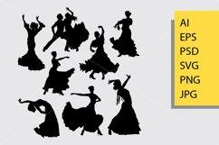 Flamenco dance silhouette Product Image 1
