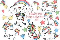 Unicorns clipart Product Image 1