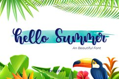 Hello Summer Font Product Image 1
