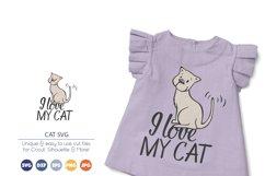 I Love My Cat SVG | Pets SVG Product Image 1