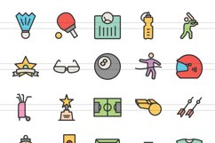 150 Fitness & Sports Filled Line Icons Product Image 3