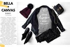 T-Shirt Mockup Mega Bundle Fall Winter Bella Canvas 3001 Product Image 3