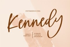 Kennedy - A Beauty Script Font Product Image 1
