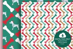 Christmas Dog Digital Papers Product Image 5