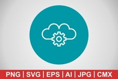 Vector Cloud Settings Icon Product Image 1