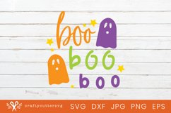 Halloween Svg Cut Happy Boo Boo Boo Quote Ghost Clipart Product Image 1