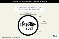 Graduation Kiss Stickers, Class of 2021 Party Favors Product Image 2
